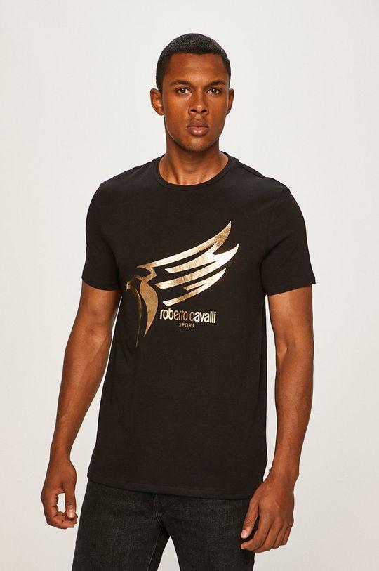 čierna Roberto Cavalli Sport - Pánske tričko Pánsky