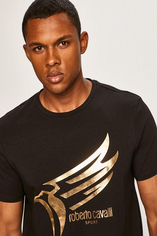 čierna Roberto Cavalli Sport - Pánske tričko
