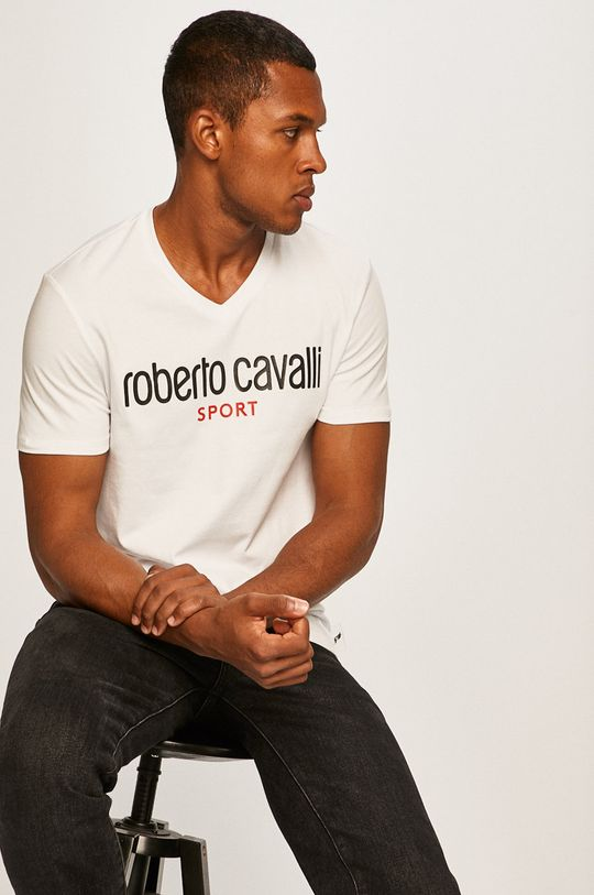 alb Roberto Cavalli Sport - Tricou De bărbați