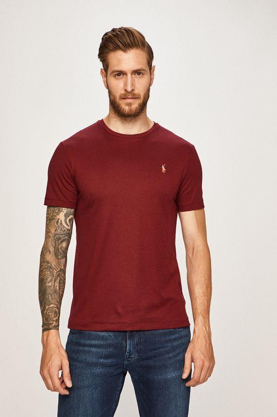 gaštanová Polo Ralph Lauren - Pánske tričko Pánsky