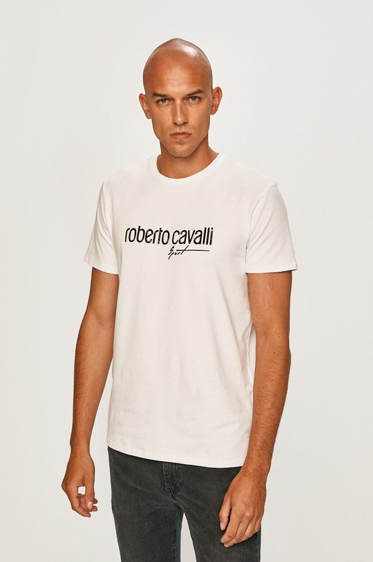 biela Roberto Cavalli Sport - Pánske tričko Pánsky