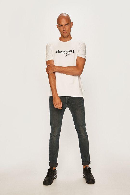 Roberto Cavalli Sport - Pánske tričko biela