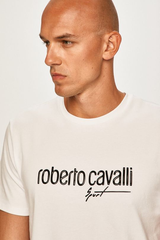 biela Roberto Cavalli Sport - Pánske tričko