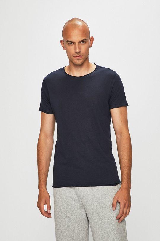 granatowy Brave Soul - T-shirt Męski