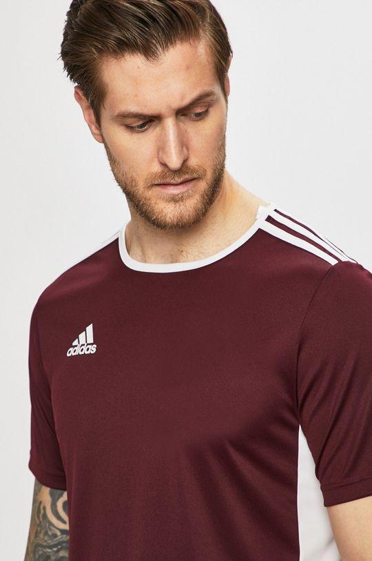 mahagóni vörös adidas Performance - T-shirt Férfi