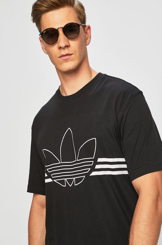 fekete adidas Originals - Póló ED4698 Férfi