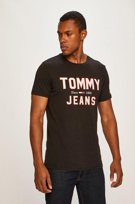 čierna Tommy Jeans - Pánske tričko Pánsky