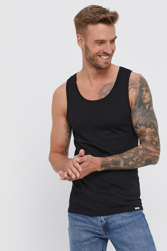 czarny Pepe Jeans - T-shirt bawełniany Bradley (2-pack) Męski