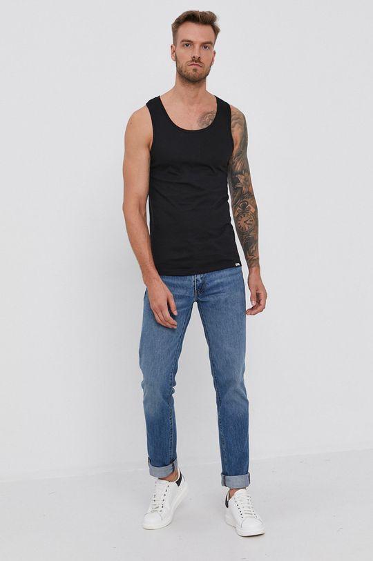 Pepe Jeans - T-shirt bawełniany Bradley (2-pack) czarny