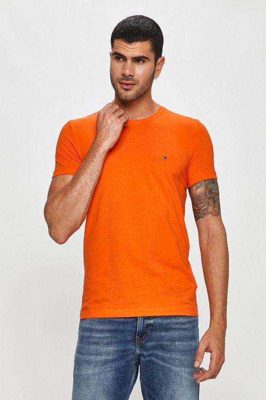 pomarańczowy Tommy Hilfiger - T-shirt Męski