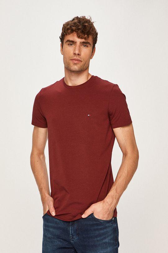gaštanová Tommy Hilfiger - Pánske tričko Pánsky