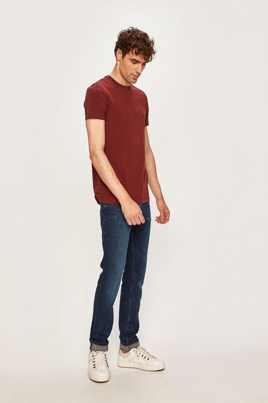 Tommy Hilfiger - Pánske tričko gaštanová
