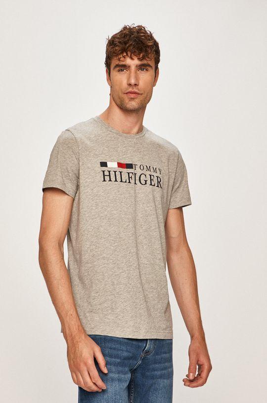 svetlosivá Tommy Hilfiger - Pánske tričko Pánsky