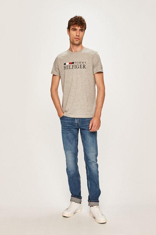 Tommy Hilfiger - Pánske tričko svetlosivá