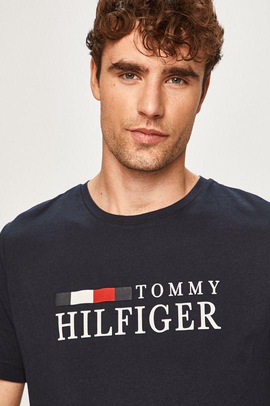 tmavomodrá Tommy Hilfiger - Pánske tričko