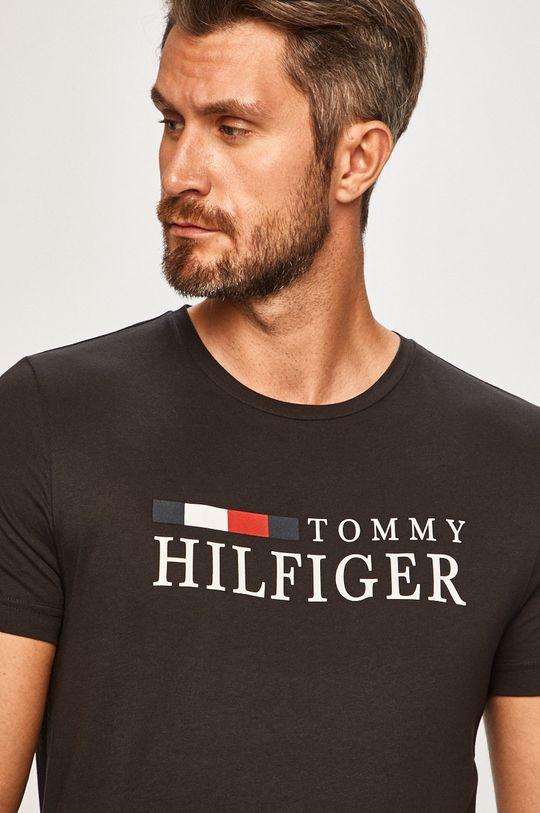 czarny Tommy Hilfiger - T-shirt Męski
