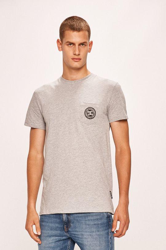 szary DC - T-shirt Męski