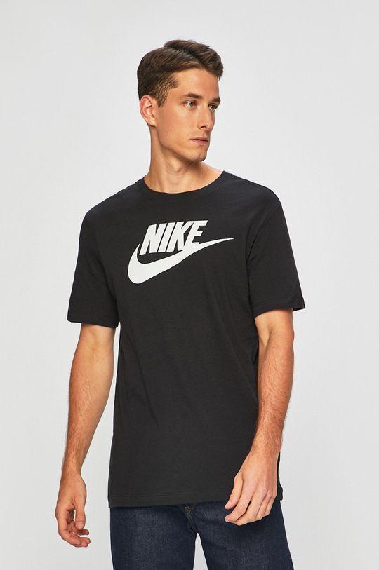 czarny Nike Sportswear - T-shirt Męski