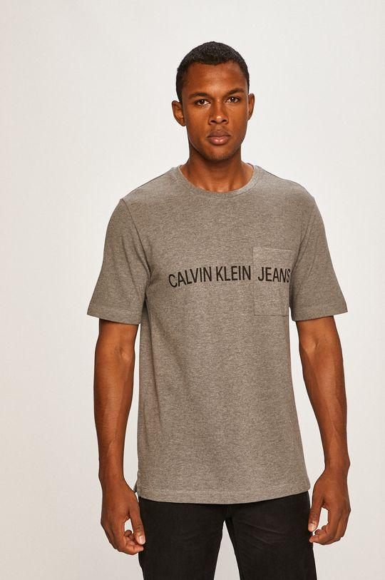 sivá Calvin Klein Jeans - Pánske tričko