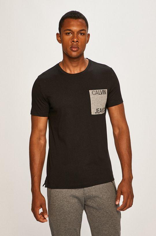 čierna Calvin Klein Jeans - Pánske tričko Pánsky