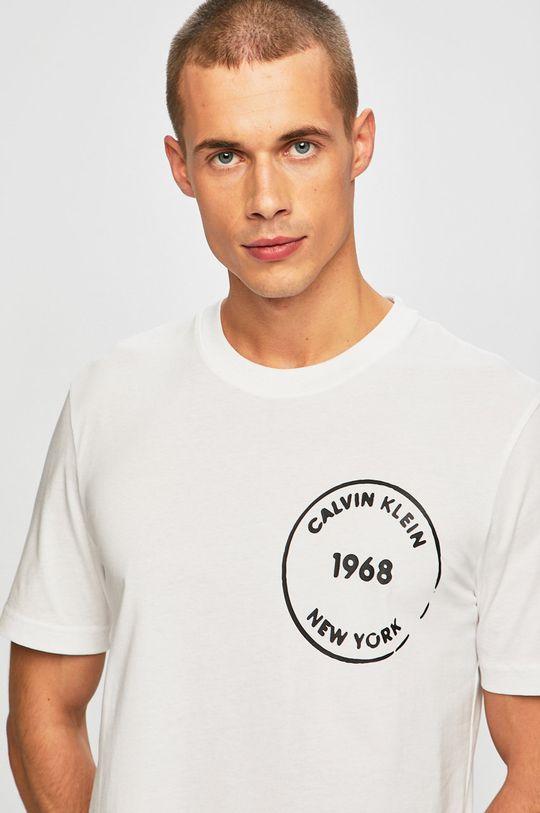 bílá Calvin Klein - Tričko Pánský