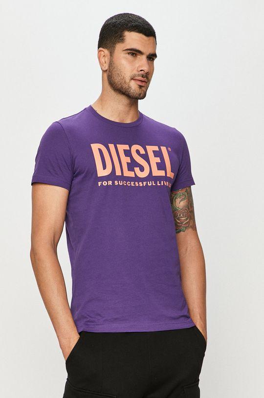 fialová Diesel - Tričko Pánsky