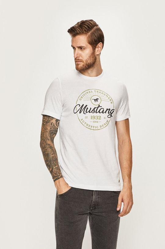 biela Mustang - Pánske tričko Pánsky
