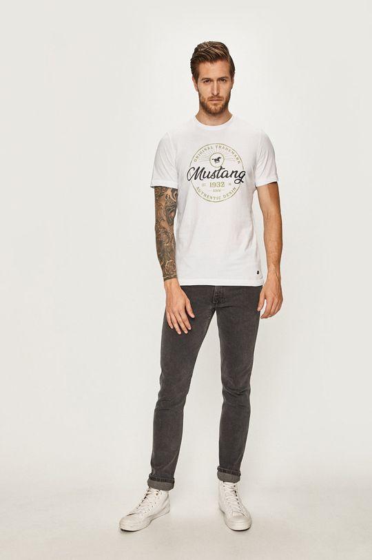 Mustang - Pánske tričko biela