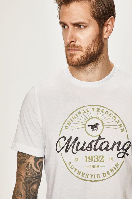 biela Mustang - Pánske tričko
