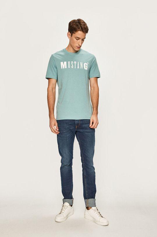 Mustang - Pánske tričko svetlomodrá