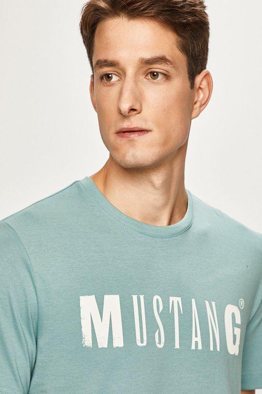 svetlomodrá Mustang - Pánske tričko