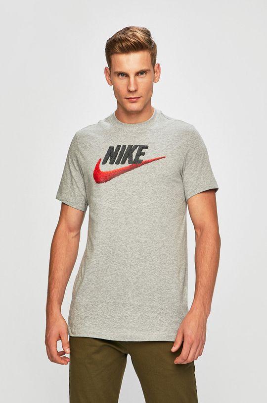 szary Nike Sportswear - T-shirt Męski