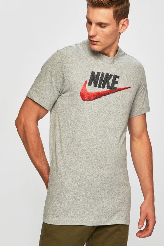 szary Nike Sportswear - T-shirt