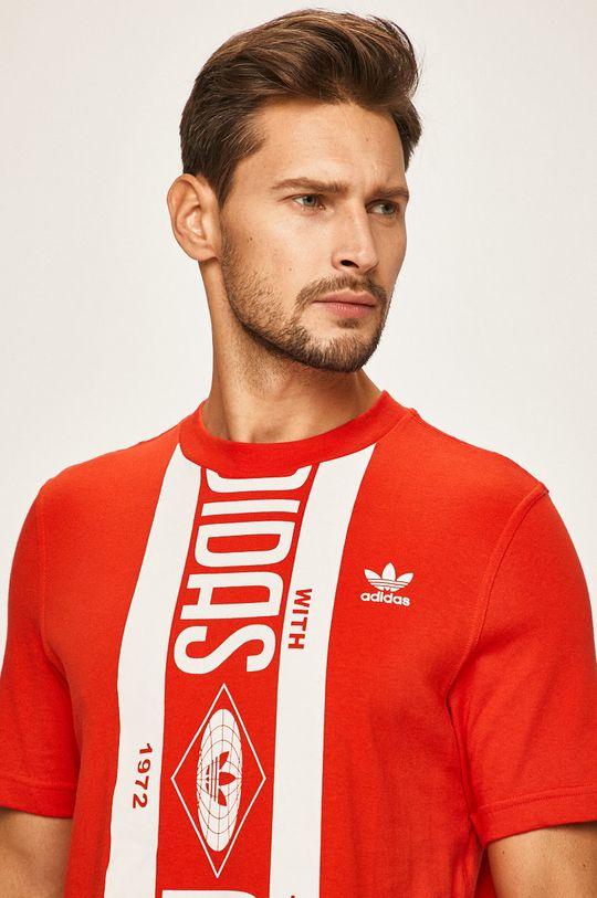 piros adidas Originals - T-shirt Férfi
