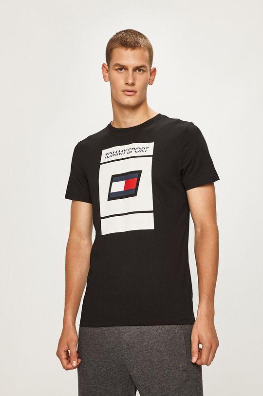 negru Tommy Sport - Tricou De bărbați