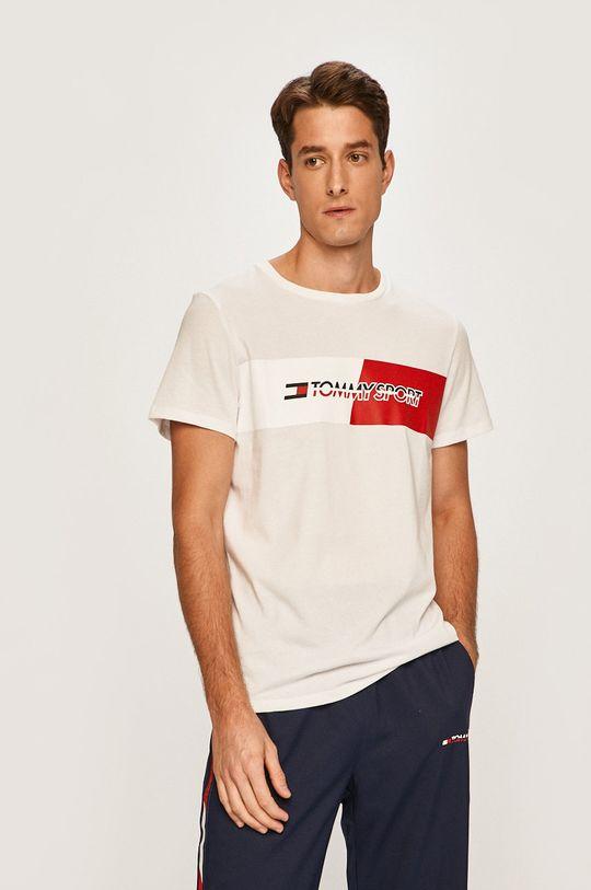 biela Tommy Sport - Pánske tričko Pánsky