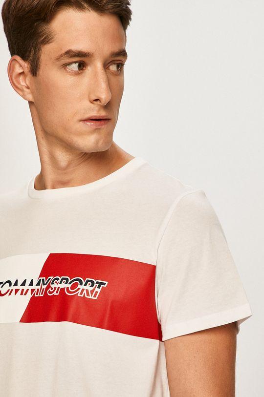 biela Tommy Sport - Pánske tričko