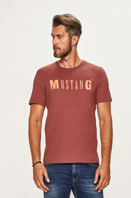 ružovofialová Mustang - Pánske tričko Pánsky