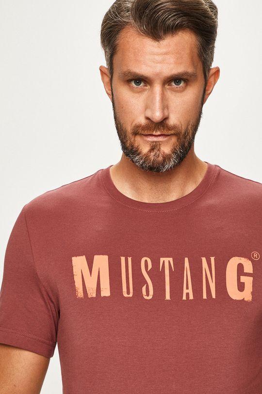 ružovofialová Mustang - Pánske tričko