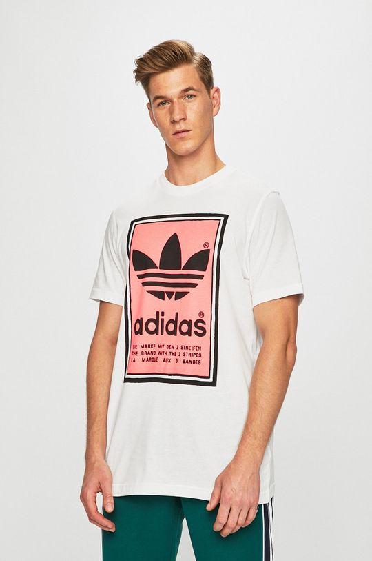 fehér adidas Originals - T-shirt Férfi