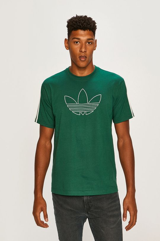 élénk zöld adidas Originals - T-shirt Férfi