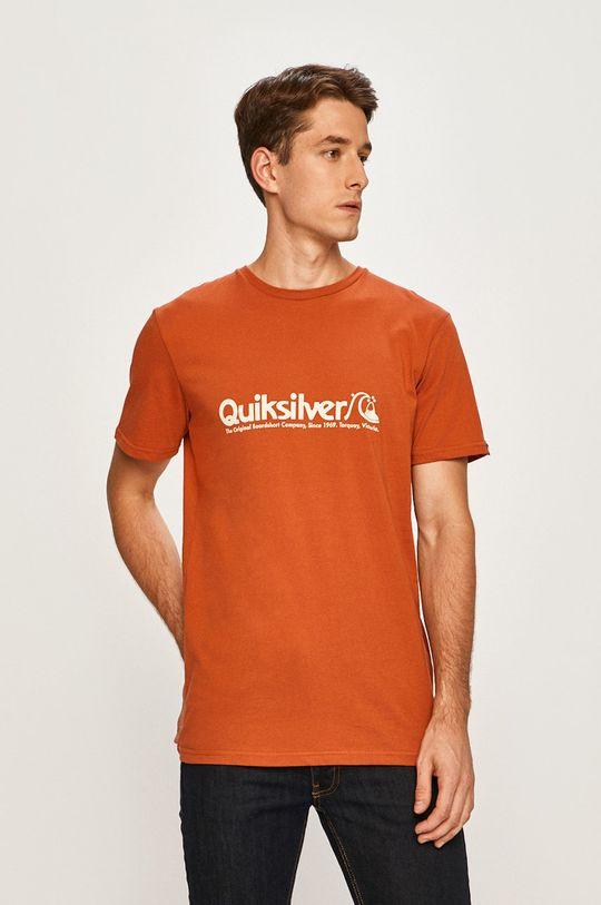 oranžová Quiksilver - Pánske tričko Pánsky
