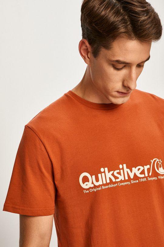 oranžová Quiksilver - Pánske tričko