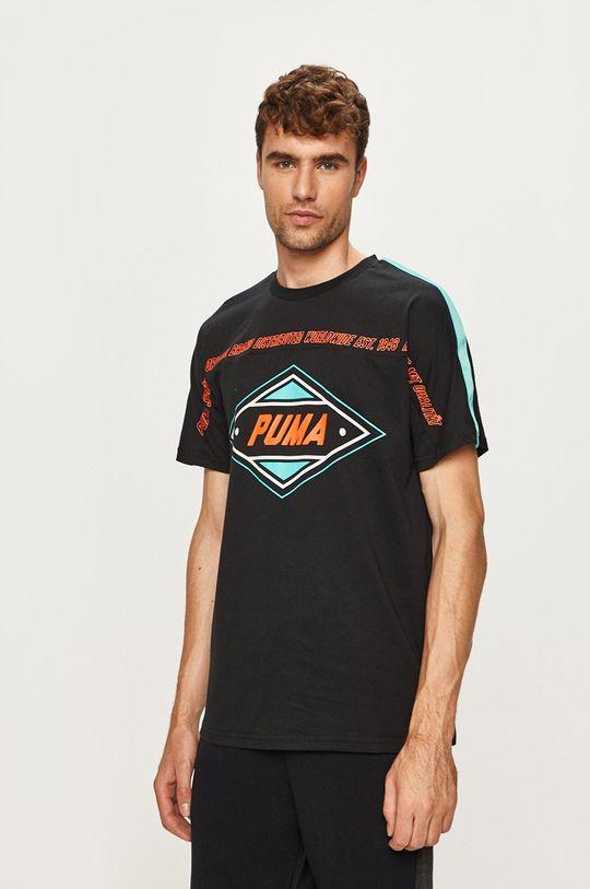 čierna Puma - Pánske tričko Pánsky