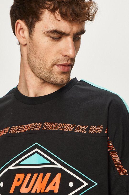 čierna Puma - Pánske tričko