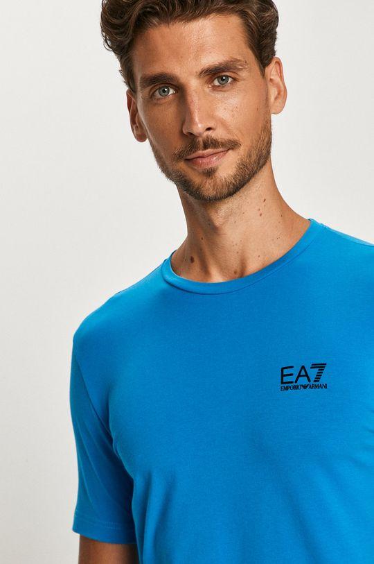 světle modrá EA7 Emporio Armani - Tričko
