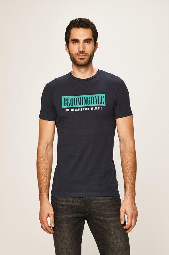 tmavomodrá Premium by Jack&Jones - Pánske tričko Pánsky