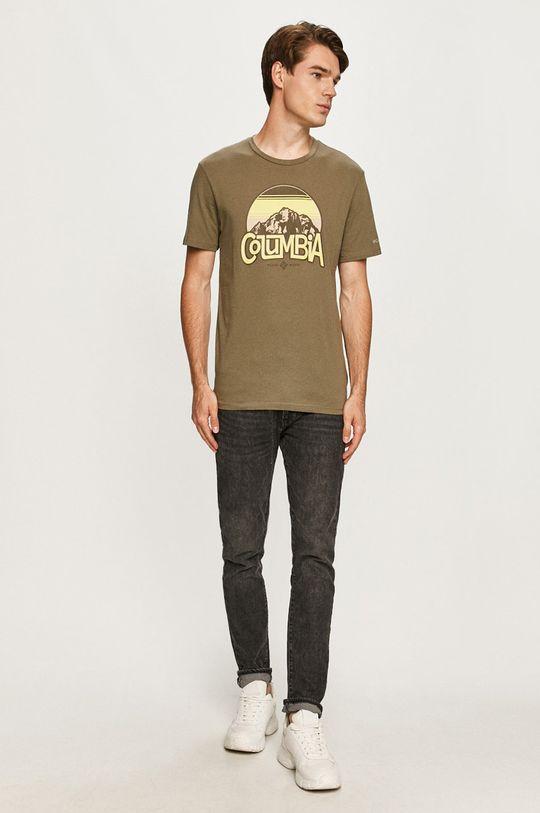 Columbia - Tričko olivová