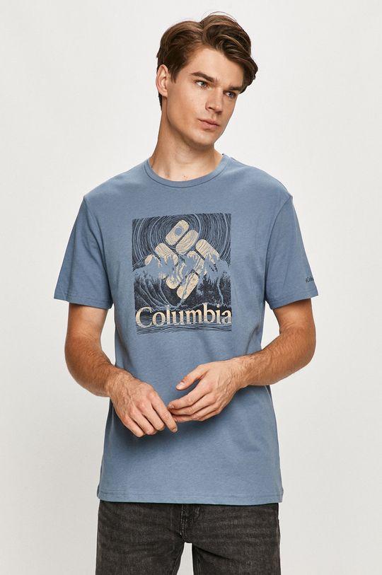 stalowy niebieski Columbia - T-shirt Męski