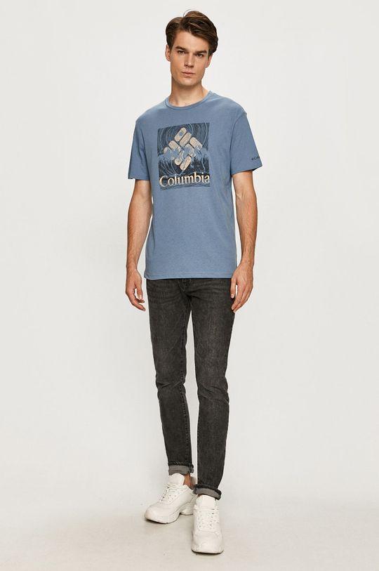 Columbia - T-shirt stalowy niebieski